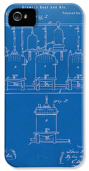 Engineer iPhone 5 Cases - 1873 Brewing Beer and Ale Patent Artwork - Blueprint iPhone 5 Case by Nikki Marie Smith
