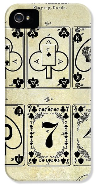 Patent iPhone 5 Cases - 1877 Playing Cards Patent Drawing  iPhone 5 Case by Jon Neidert