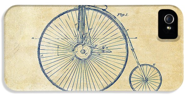 Engineer iPhone 5 Cases - 1881 Velocipede Bicycle Patent Artwork - Vintage iPhone 5 Case by Nikki Marie Smith