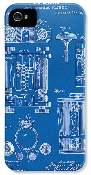 Data iPhone 5 Cases - 1889 First Computer Patent Blueprint iPhone 5 Case by Nikki Marie Smith