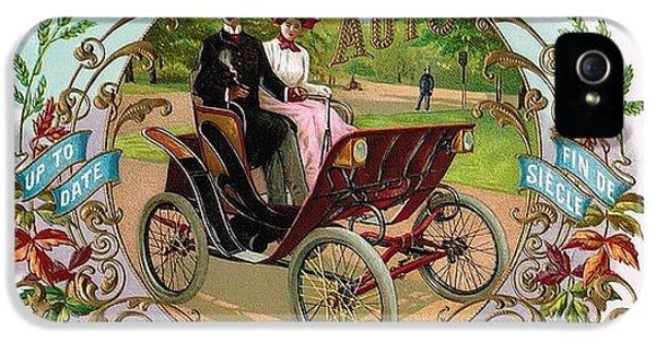 Fin De Siecle iPhone 5 Cases - 1890 Auto Vintage Art iPhone 5 Case by Maciej Froncisz