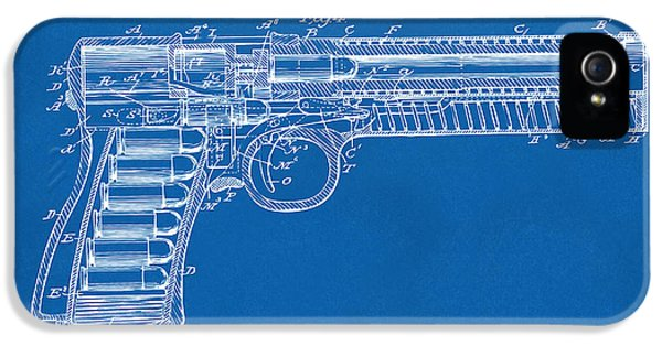 X-ray iPhone 5 Cases - 1903 McClean Pistol Patent Minimal - Blueprint iPhone 5 Case by Nikki Marie Smith