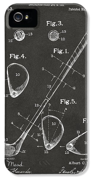 Engineer iPhone 5 Cases - 1910 Golf Club Patent Artwork - Gray iPhone 5 Case by Nikki Marie Smith