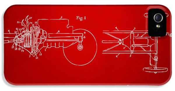 Transmission iPhone 5 Cases - 1911 Henry Ford Transmission Patent Red iPhone 5 Case by Nikki Marie Smith
