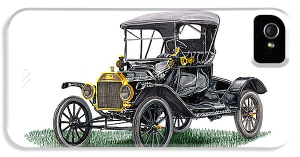 Fabrication iPhone 5 Cases - 1915 Ford Model T Poster iPhone 5 Case by Jack Pumphrey