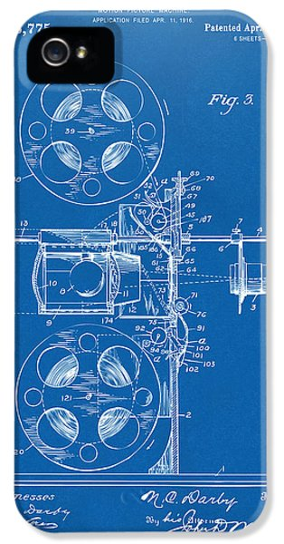 Motion Picture iPhone 5 Cases - 1920 Motion Picture Machine Patent Blueprint iPhone 5 Case by Nikki Marie Smith