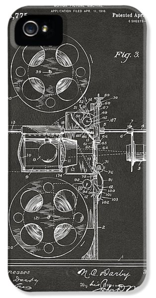 Motion Picture iPhone 5 Cases - 1920 Motion Picture Machine Patent Gray iPhone 5 Case by Nikki Marie Smith