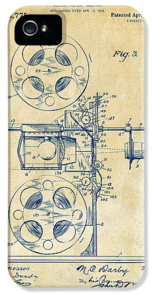Motion Picture iPhone 5 Cases - 1920 Motion Picture Machine Patent Vintage iPhone 5 Case by Nikki Marie Smith