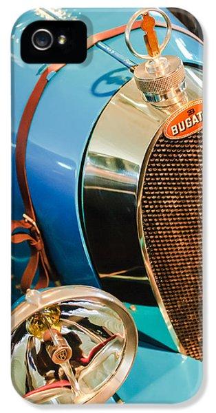Bugatti Type 35 iPhone 5 Cases - 1925 Bugatti Type 35 Grand Prix Grille Emblem - Hood Ornament iPhone 5 Case by Jill Reger