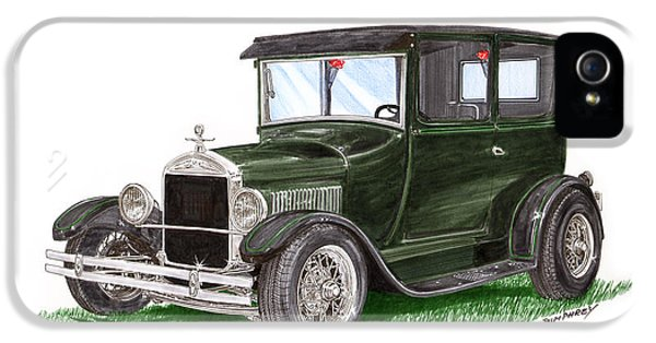 Fabrication iPhone 5 Cases - 1926 Ford Tudor Sedan Street Rod iPhone 5 Case by Jack Pumphrey