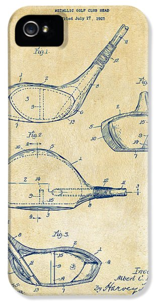 1926 Golf Club Patent Artwork - Vintage IPhone 5 / 5s Case by Nikki Marie Smith