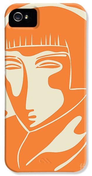 1928 Woman Face   Orange IPhone 5 / 5s Case by Igor Kislev
