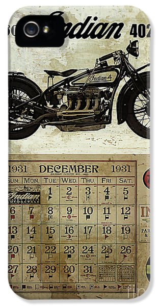 Historical iPhone 5 Cases - 1930 Indian 402 iPhone 5 Case by Cinema Photography