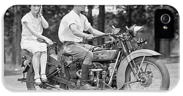 Cell iPhone 5 Cases - 1930s MOTORCYCLE TOURING iPhone 5 Case by Daniel Hagerman