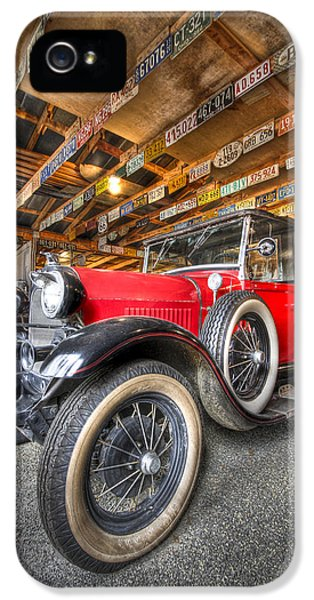 1929 Roadster iPhone 5 Cases - 1931 Ford Pick-Up iPhone 5 Case by Debra and Dave Vanderlaan