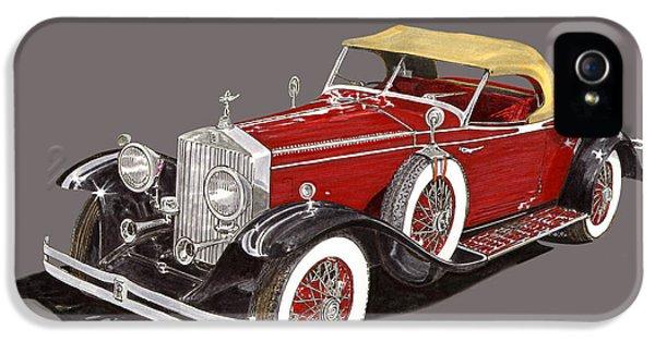 1931 Roadster iPhone 5 Cases - 1931 Henley Rolls Royce Henley Roadster iPhone 5 Case by Jack Pumphrey