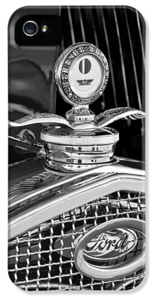 1931 Roadster iPhone 5 Cases - 1931 Model A Ford Deluxe Roadster Hood Ornament 2 iPhone 5 Case by Jill Reger