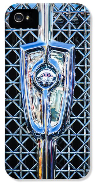 1931 Roadster iPhone 5 Cases - 1931 Studebaker President Four Seasons Roadster Grille Emblem iPhone 5 Case by Jill Reger