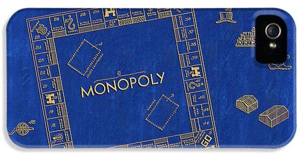 Monopoly iPhone 5 Cases - 1935 Monopoly Patent Art 3 iPhone 5 Case by Nishanth Gopinathan