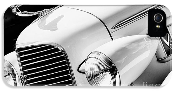 1936 iPhone 5 Cases - 1936 Cadillac V8 Monochrome iPhone 5 Case by Tim Gainey