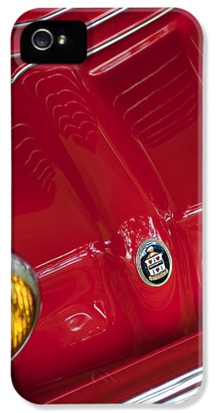 1936 iPhone 5 Cases - 1936 Cord 810 Sportsman Grille Emblem iPhone 5 Case by Jill Reger