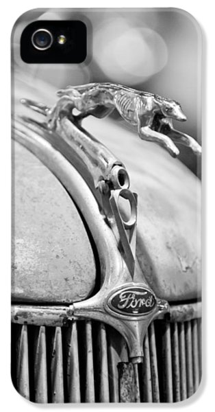 1936 iPhone 5 Cases - 1936 Ford Cabriolet Hood Ornament - Emblem iPhone 5 Case by Jill Reger