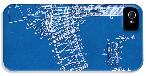 X-ray iPhone 5 Cases - 1937 Police Remington Model 8 Magazine Patent Minimal - Blueprint iPhone 5 Case by Nikki Marie Smith