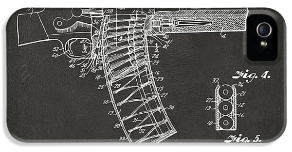 X-ray iPhone 5 Cases - 1937 Police Remington Model 8 Magazine Patent Minimal - Gray iPhone 5 Case by Nikki Marie Smith