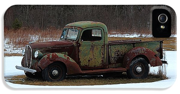 1929 Roadster iPhone 5 Cases - 1938-39 Ford Pickup iPhone 5 Case by Joseph Marquis