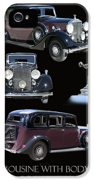 Springs Coil iPhone 5 Cases - 1938 Rolls Royce Limousine iPhone 5 Case by Jack Pumphrey