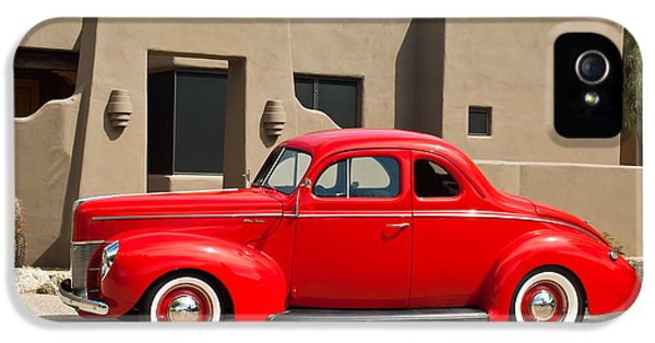 Ford Classic Car iPhone 5 Cases - 1940 Ford Deluxe Coupe iPhone 5 Case by Jill Reger