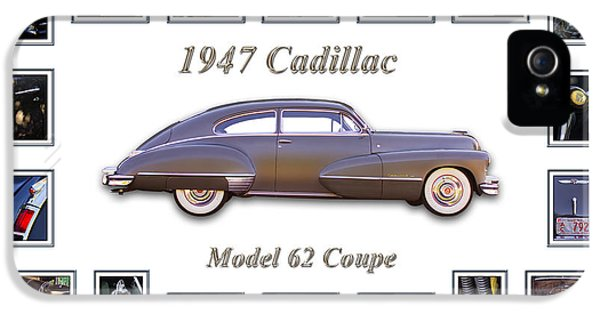 Montage iPhone 5 Cases - 1947 Cadillac Model 62 Coupe Art iPhone 5 Case by Jill Reger