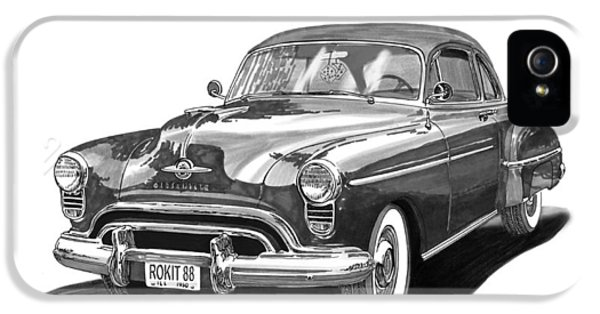 American iPhone 5 Cases - 1950 Oldsmobile Rocket 88 iPhone 5 Case by Jack Pumphrey