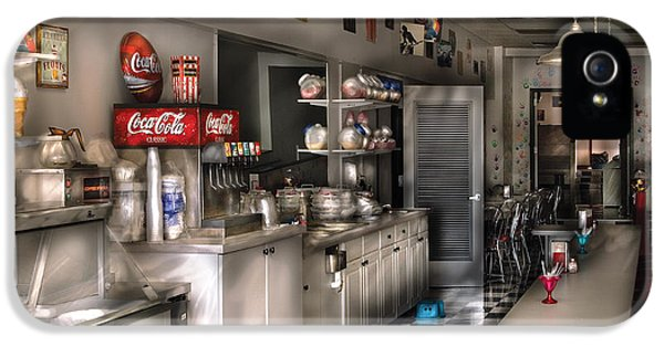 Eatery iPhone 5 Cases - 1950s - The Soda Fountain iPhone 5 Case by Mike Savad
