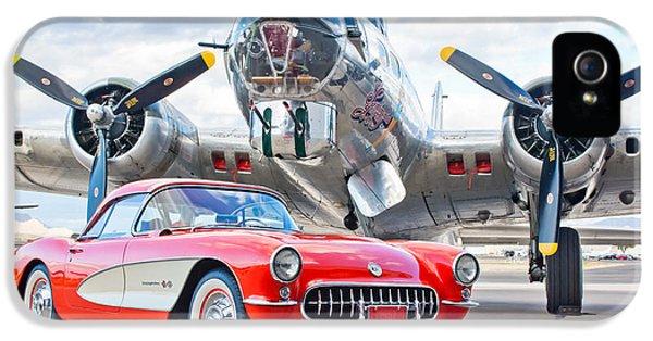 Automobile iPhone 5 Cases - 1957 Chevrolet Corvette iPhone 5 Case by Jill Reger