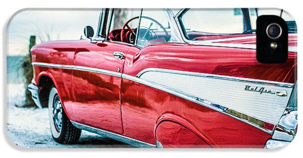 Sofa iPhone 5 Cases - 1957 Chevy Bel Air iPhone 5 Case by Edward Fielding