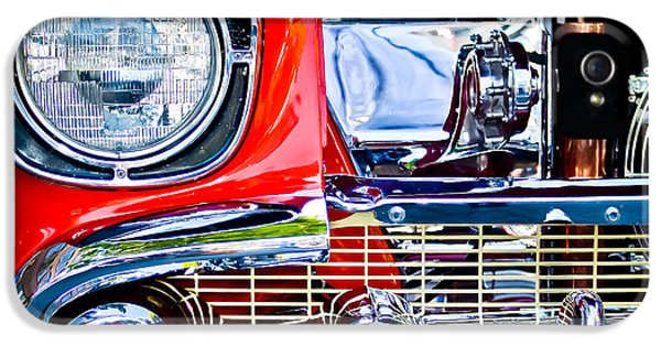 Firewall iPhone 5 Cases - 1957 Chevy Nomad 1 iPhone 5 Case by Craig Roberts