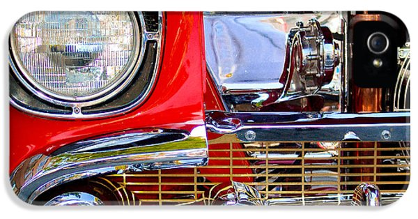 Firewall iPhone 5 Cases - 1957 Chevy Nomad 2 iPhone 5 Case by Craig Roberts