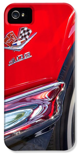 Car iPhone 5 Cases - 1962 Chevrolet Impala SS 409 Emblem iPhone 5 Case by Jill Reger