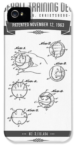 1963 Baseball Training Device Patent Drawing IPhone 5 / 5s Case by Aged Pixel