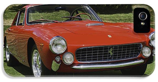 Ferrari iPhone 5 Cases - 1963 Ferrari 250 GT Lusso iPhone 5 Case by Sebastian Musial