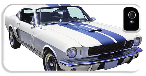 Ford Classic Car iPhone 5 Cases - 1965 GT350 Mustang Muscle Car iPhone 5 Case by Keith Webber Jr