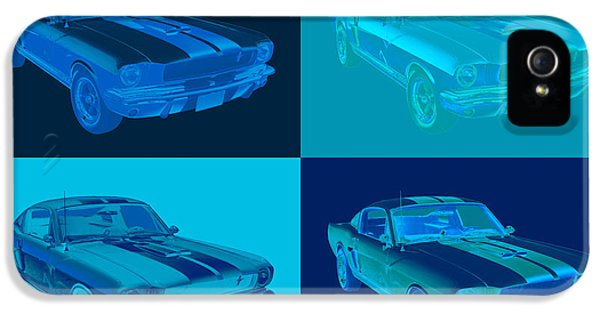 Ford Classic Car iPhone 5 Cases - 1965 GT350 Mustang Muscle Car Pop Art iPhone 5 Case by Keith Webber Jr