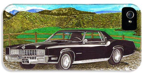 Conducting iPhone 5 Cases - 1967 Cadillac Eldorado at Lake Guatavita iPhone 5 Case by Jack Pumphrey
