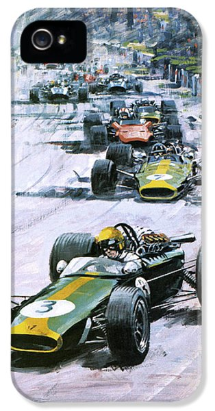 Formula One iPhone 5 Cases - 1967 French Grand Prix iPhone 5 Case by Graham Coton