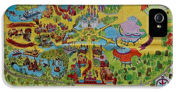 1971 Original Map Of The Magic Kingdom IPhone 5 / 5s Case by Rob Hans