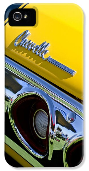 1972 iPhone 5 Cases - 1972 Chevrolet Chevelle Taillight Emblem iPhone 5 Case by Jill Reger