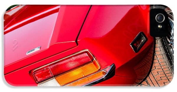 1972 iPhone 5 Cases - 1972 DeTomaso Pantera Taillight Emblem iPhone 5 Case by Jill Reger