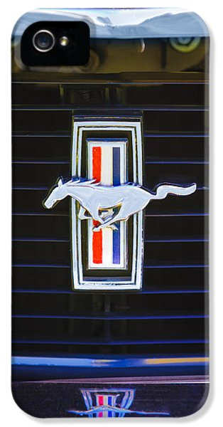 1972 iPhone 5 Cases - 1972 Ford Mustang Boss 302 Grille Emblem iPhone 5 Case by Jill Reger