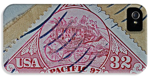 1997 Pacific Stagecoach Stamp IPhone 5 / 5s Case by Bill Owen